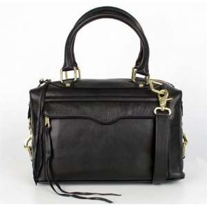 Rebecca Minkoff MAB Mini With Gold Hardware, Black: Office
