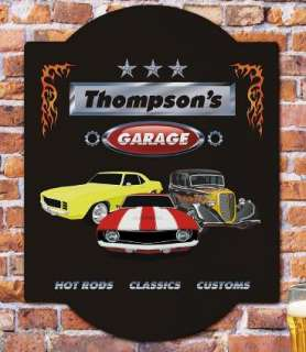 Classic Muscle Cars Camaro Street Hot Rod GARAGE Personalized SIGN