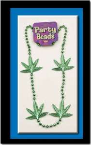 Adults Only Weed Pot marijuana necklace Beads New Orleans mardi gras