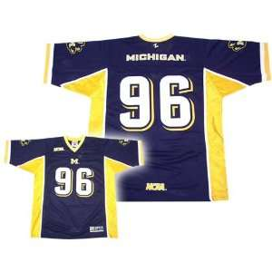 Zephyr Michigan Wolverines #96 Navy Wishbone Jersey