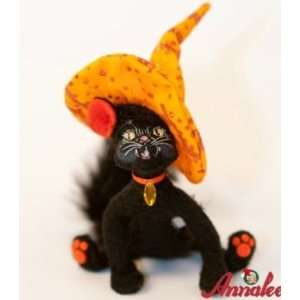 Annalee Mobilitee Doll Halloween Witch Kitty Cat 4