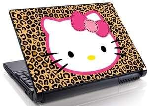 Hello Kitty Cheetah pattern Laptop SKIN DECAL Mini All SIZES 10 15.4