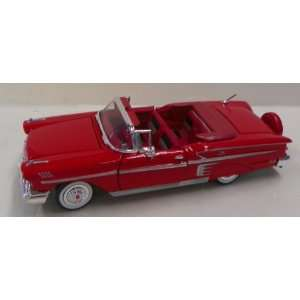 Scale Diecast 1958 Chevy Impala Convertible in Color Red: Toys & Games