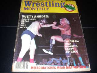 Wrestling Monthly magazine 1977 apartment wwf nwa girls