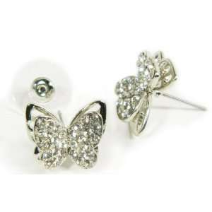 Butterfly Swarovski Crystal Stud Earring You Accessorize Jewelry