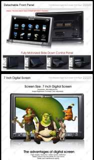 D2223 Milion 7 WVGA Screen DVD Player Double 2DIN Car Stereo