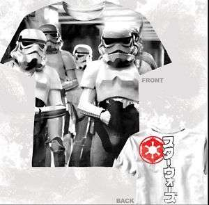 New Star Wars Storm trooper stormtrooper 2 side T shirt