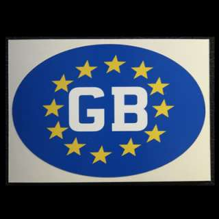 GB EURO STICKER for CAR CARAVAN TRAILER GB02