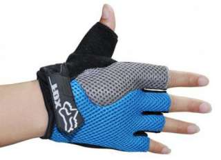 New Cycling Bicycle half finger gloves 3D Design BLUE