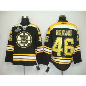 David Krejci #46 NHL Boston Bruins Black Hockey Jersey