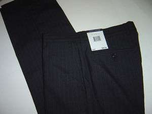 MENS TOMMY HILFIGER GREY PINSTRIPE DRESS PANTS 32 X 30