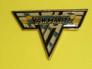 Van Halen Tour Hat Pin Badge Enamel Metal Vtg 1980s Alex Eddie Rock