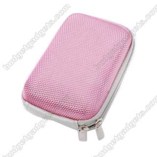 NEW Durable Digital Camera Hard Case Bag Pouch Pink