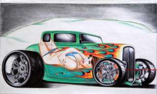 Original Artwork Limited 32 Ford SoCal Street Rod