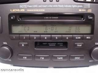 Lexus ES330 ES300 Radio Tape Player 6CD Changer P6816 2002 2003 2004