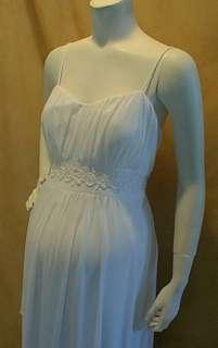 White Maternity Wedding Dress 3X Bridal Trim Sexy Evening Gown Formal