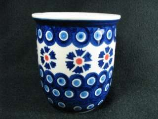 WIZA POLISH POTTERY MUG from BOLESLAWIEC, POLAND NEW BLUE and WHITE