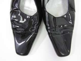 ACOSTA Black Patent Leather Slingbacks Pumps 40C 10C