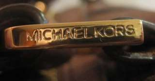 448 MICHAEL KORS HEIDI SHOULDER SATCHEL BROWN LEATHER HANDBAG