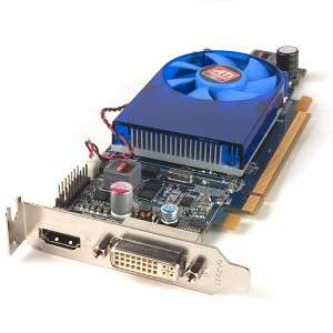 ATI Radeon HD 1GB DDR2 PCI Express PCIe DVI Low Profile Video Card w