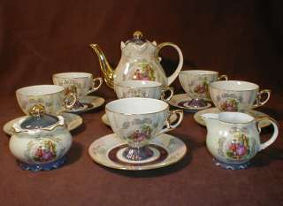 YUSUI Lovely Fine Porcelain China Chocolate/Tea Set