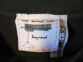 Mark Gonzales Gray T Shirt Mens M (fading on shoulder)