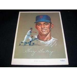 Gary Gentry Auto Signed 1969 Mets Citgo John Wheeldon