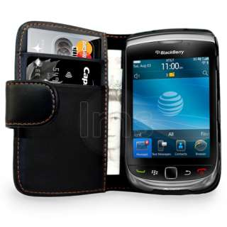 London Magic Store   AIO Black Wallet Leather Case For Blackberry