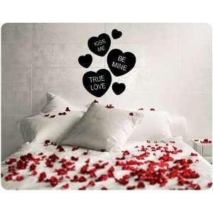 Me Candy Hearts Valentines Day Wall Decal Decor Words Large Sticker