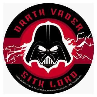 Star Wars   Darth Vader Sith Lord   Round Sticker / Decal