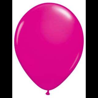 100 11 Round Wild Berry Qualatex Balloons Rubber Latex
