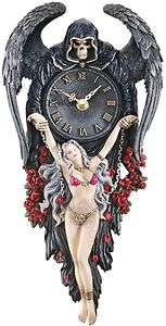 Reapers Grasp Chained Beauty Gothic Roman Numeral Wall Clock