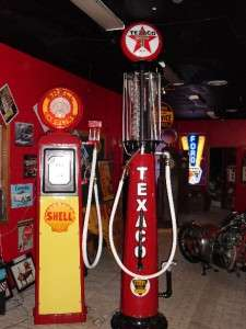 restored texaco visible gas pump globe wayne 615