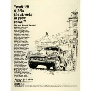 1961 Ad Renault Gordini Economy Car Austin Briggs Illustration