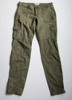 Abercrombie A&F Skinny Cargo Cord Pants sz.4 Perfect Stretch Green NEW