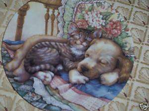 Cuddle Up/Leesa Whitten/ FRIENDS FOREVER 1st Cat Plate