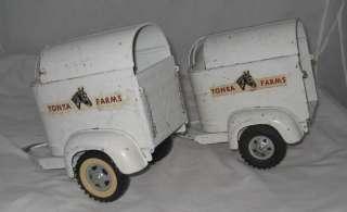 1959 TONKA FARMS STAKE TRUCK WI 2 HORSE TRAILERS |