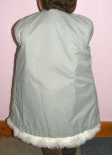 LOVELY FAUX FOX FUR WHITE GIRL 3X DRESS COAT
