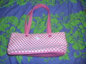 Nice Sanrio Hello Kitty Pink White Checkered Bag Purse