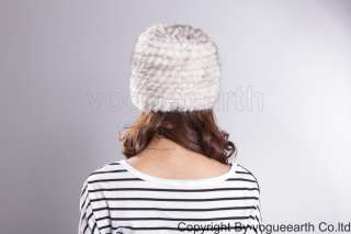 508 new real knitted mink fur 3 color hat /caps