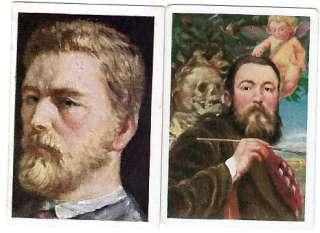 1928 German Artist Cards WILHELM LEIBL & HANS THOMA