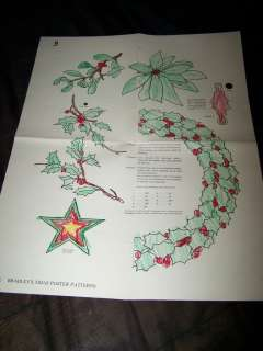 Antique Vtg 1928 XMAS POSTER PATTERNS Santa Claus Christmas Paper Toy