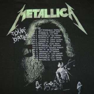 VINTAGE METALLICA 1988 89 TOUR T SHIRT CONCERT PUSHEAD 80S TEE THRASH