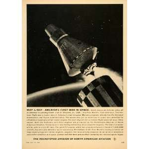 1961 Ad Redstone Rocket Engine North American Aviation