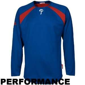 Phillies Royal Blue Therma Base Tech Performance Fleece Sweatshirt