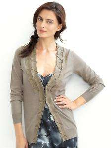 NWT BANANA REPUBLIC Monogram Origami Detail Merino Wool Cardigan