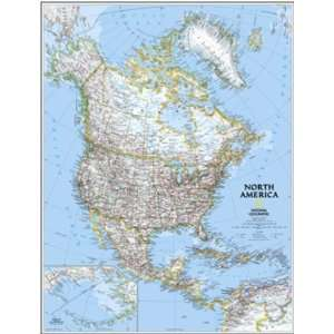 North America Wall Map (National Geographic)   30 x 24