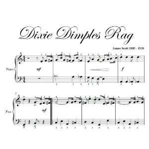 Dixie Dimples Rag James Scott Big Note Piano Sheet Music Books