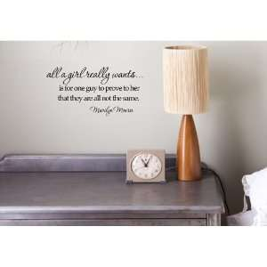 Marilyn Monroe Vinyl wall art Inspirational quotes and saying home