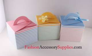 Fancy High Quality Gift Boxes, Cupcake, Self Handled Boxes, Stripes